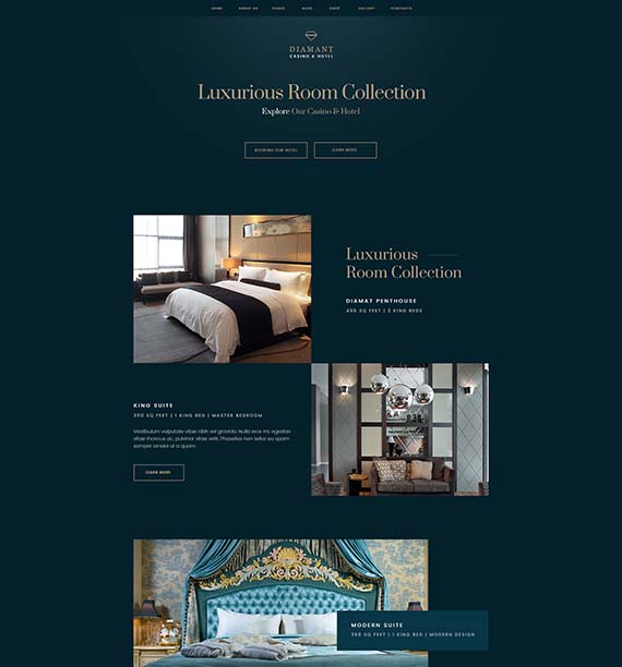 Luxurious room colection